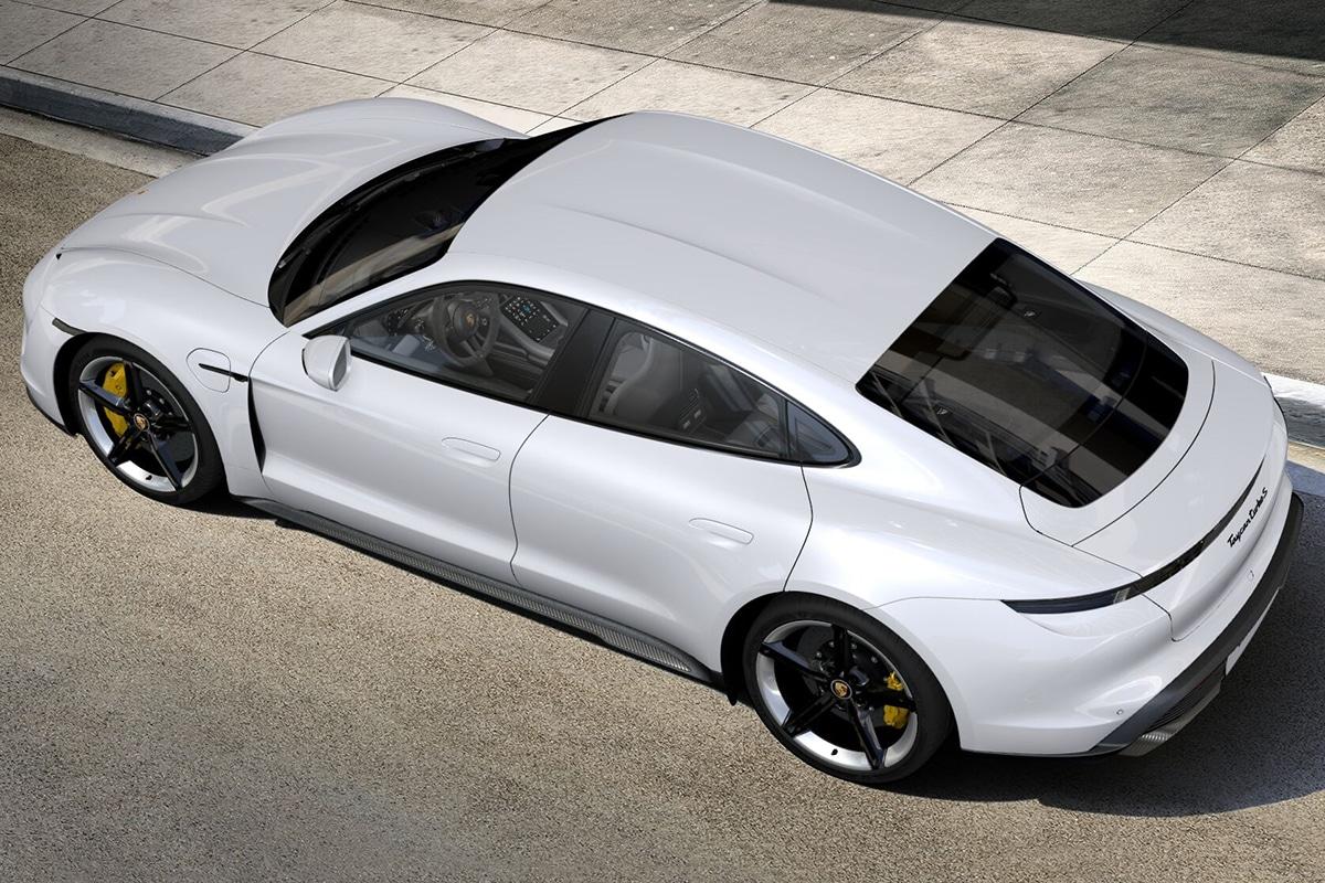 2021 Porsche Taycan Sedan top view