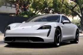 2021 Porsche Taycan Sedan front side