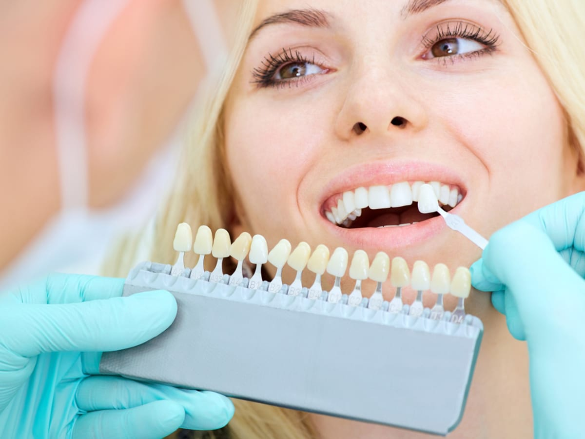 smiling patient at dental clinic