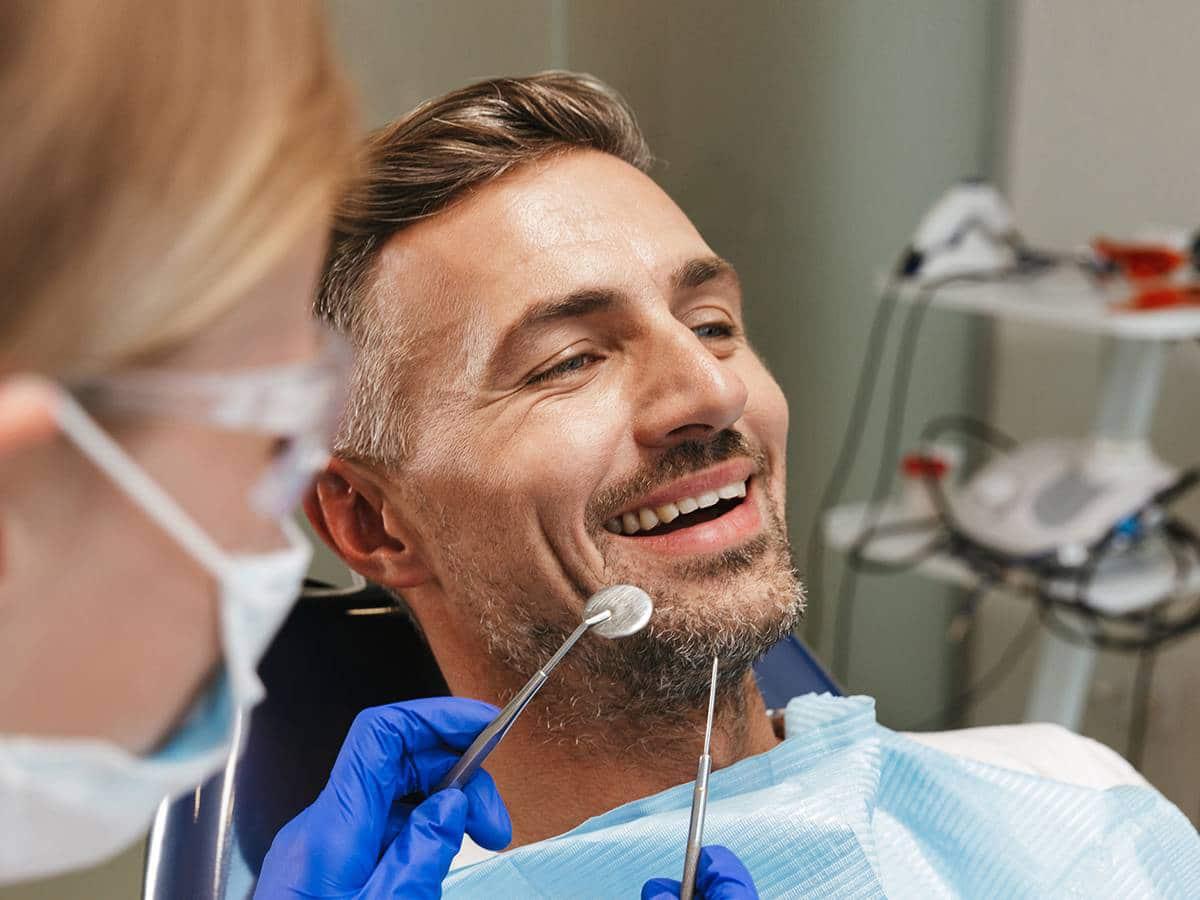 smiling patient at sydney cbd dental