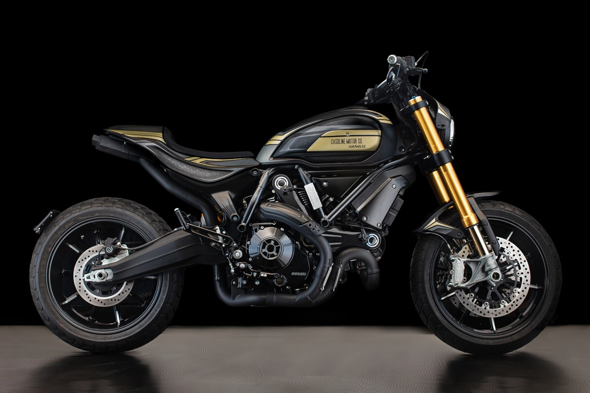 Custom Ducati Scrambler 1100 by Gasoline Motor Co right side