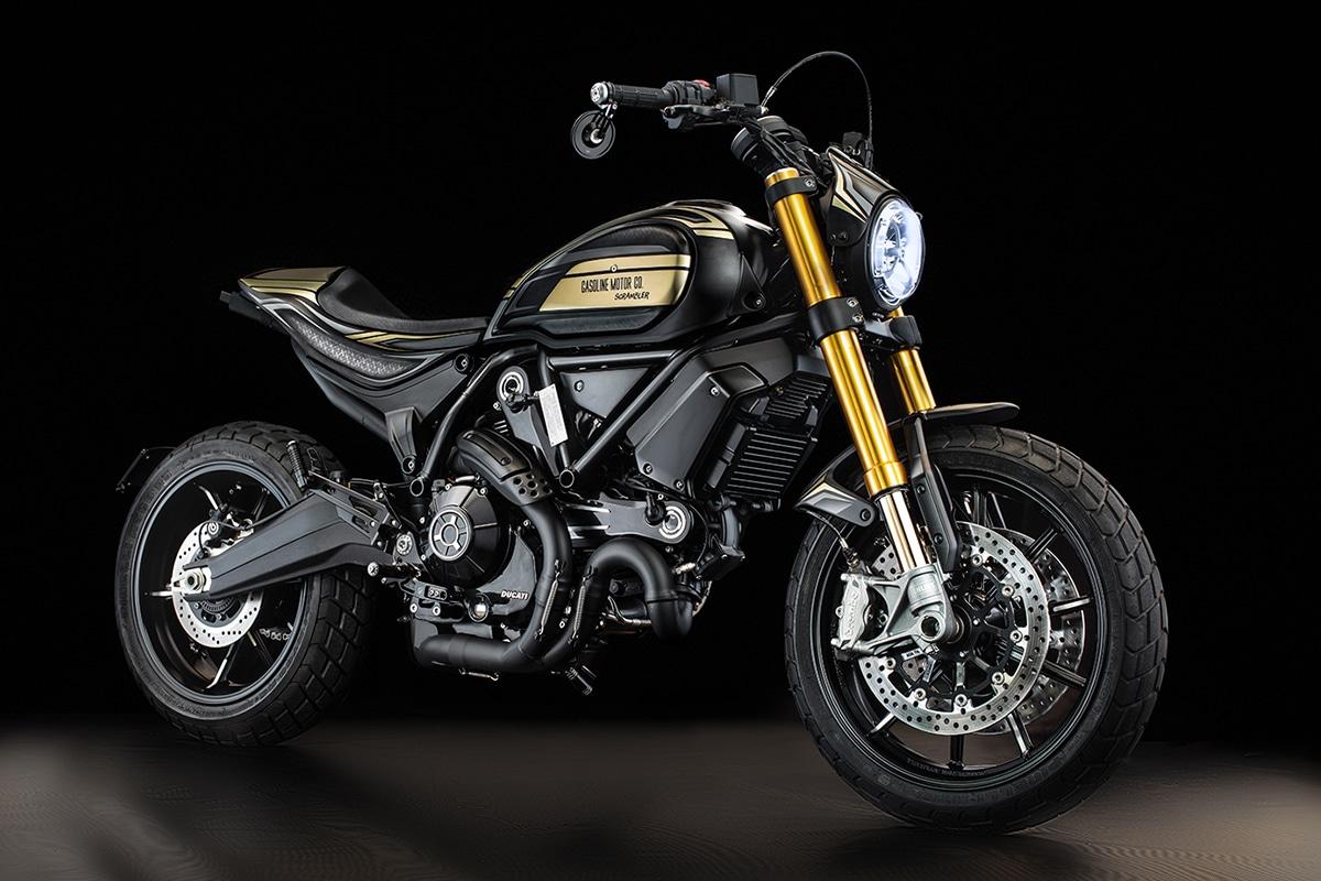 Custom Ducati Scrambler 1100 by Gasoline Motor Co front view