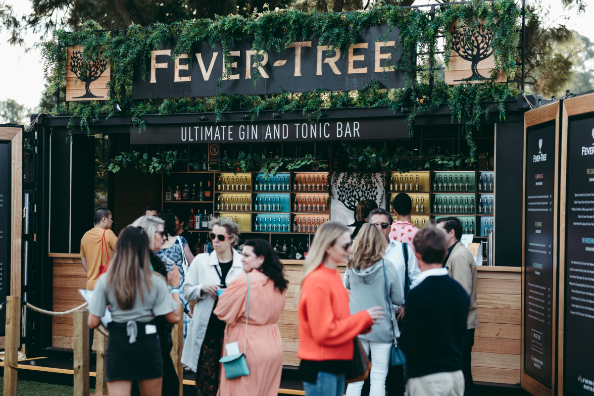 People at the Fever-Tree Ultimate Gin and Tonic Bar