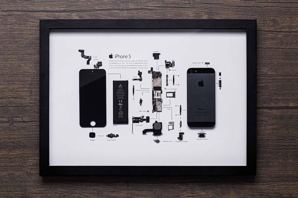 Grid Studio Framed Smartphones iphone 5