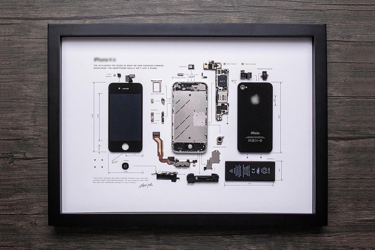 Grid Studio Framed Smartphones iphone 4s