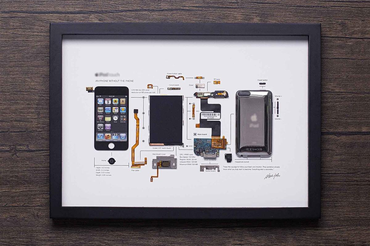 Grid Studio Framed Smartphones ipod touch