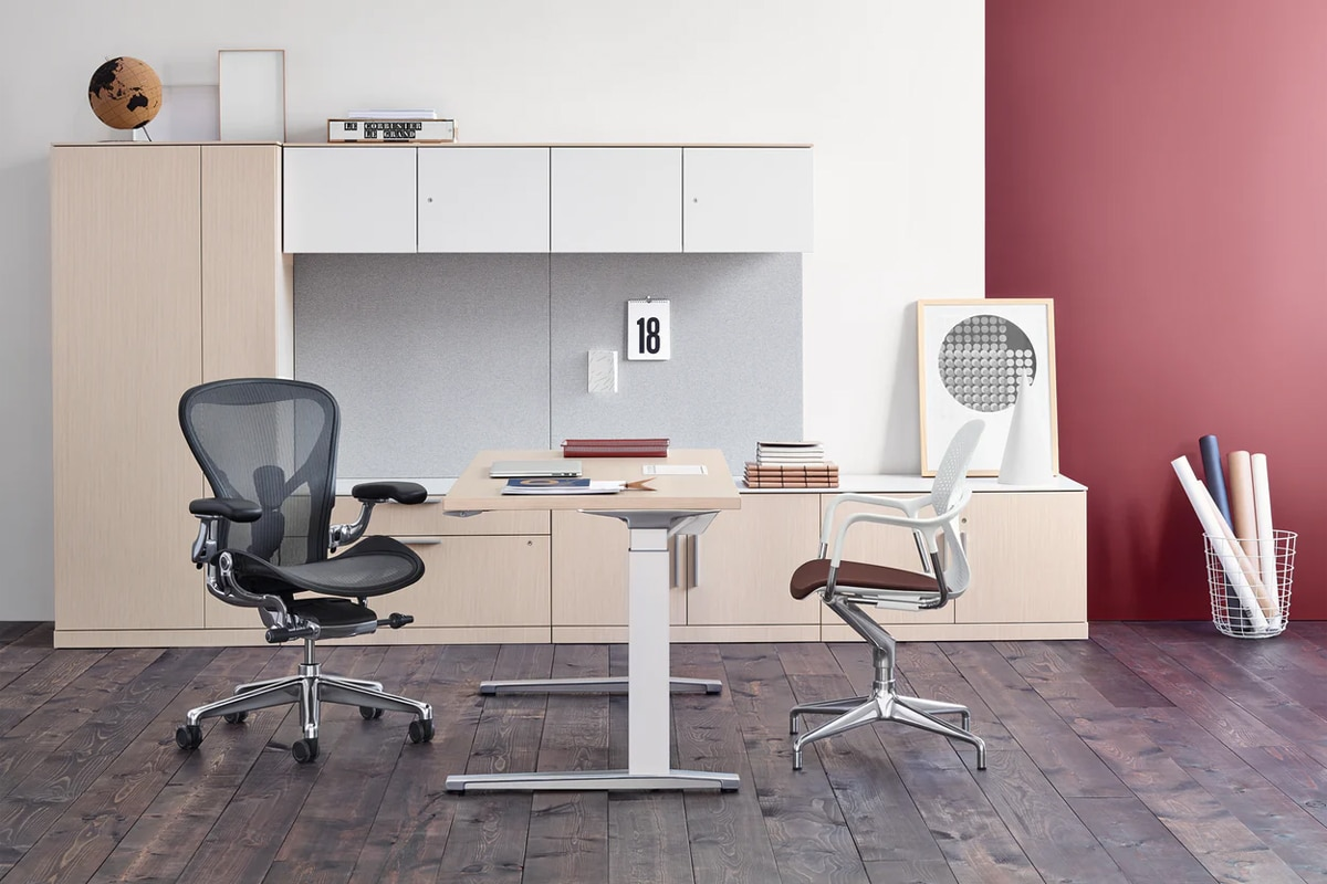 Herman miller renew sit to stand tables