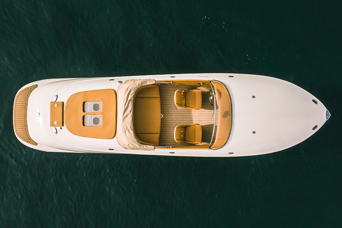 Hermes Speedster E Dayboat top view