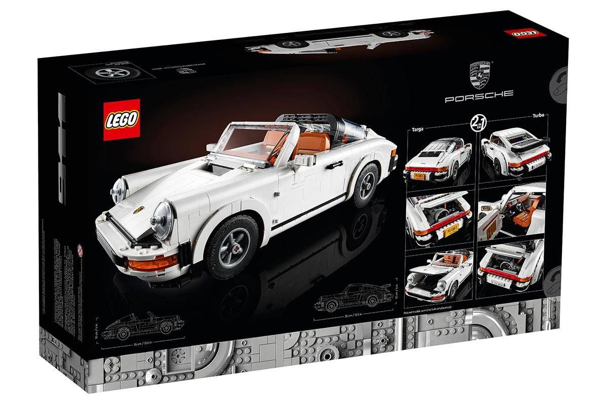 Lego Porsche 911 Building Set box back