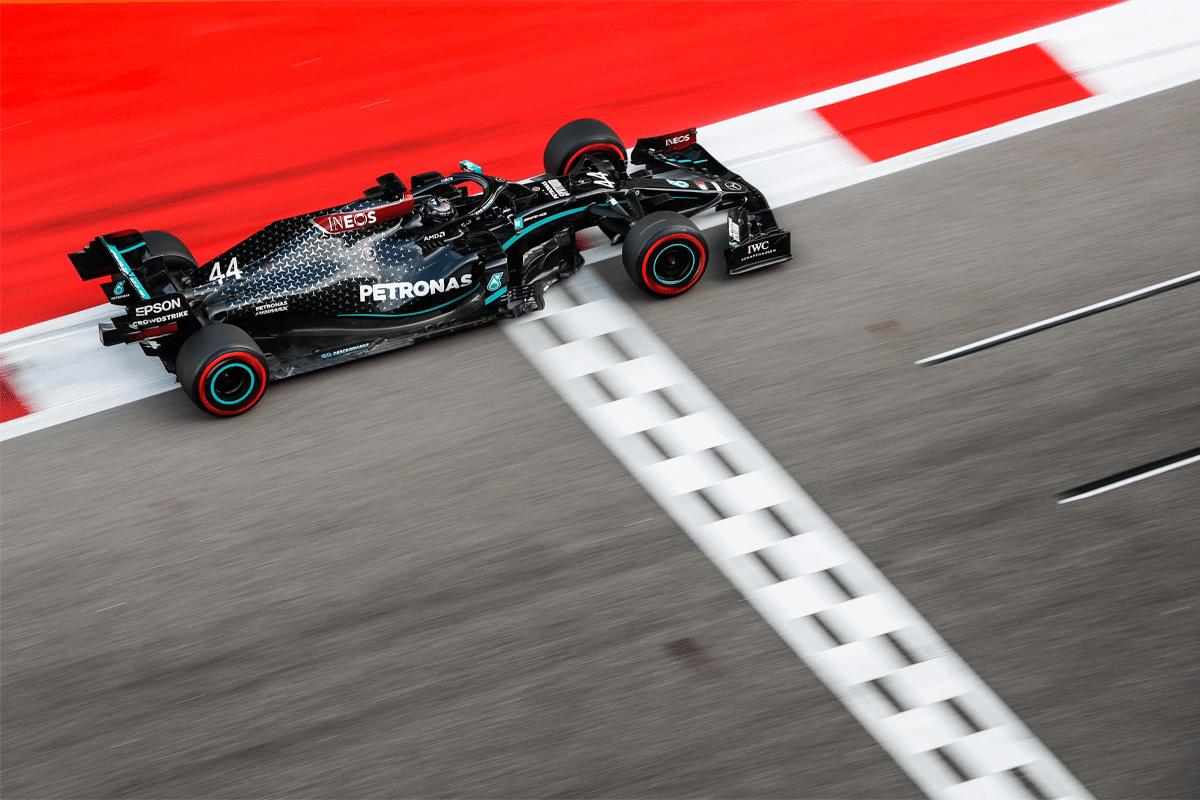 Lewis Hamilton in Petronas Car
