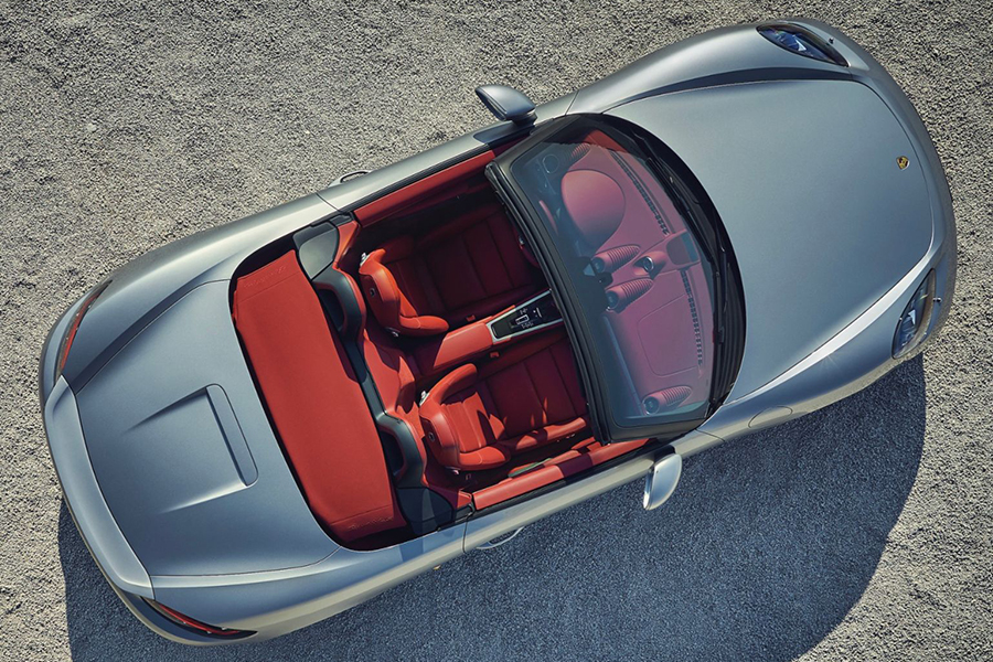 Limited Edition Porsche Boxter aerial view