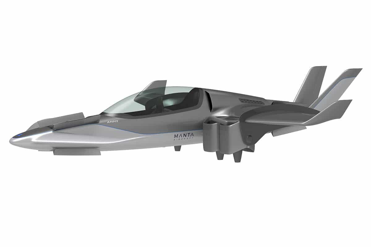 Manta x eVTOL aircraft side wing