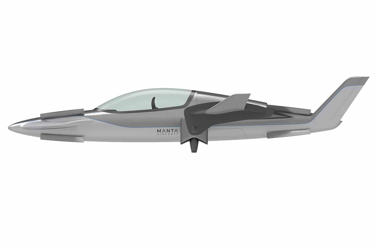 Manta x eVTOL aircraft side