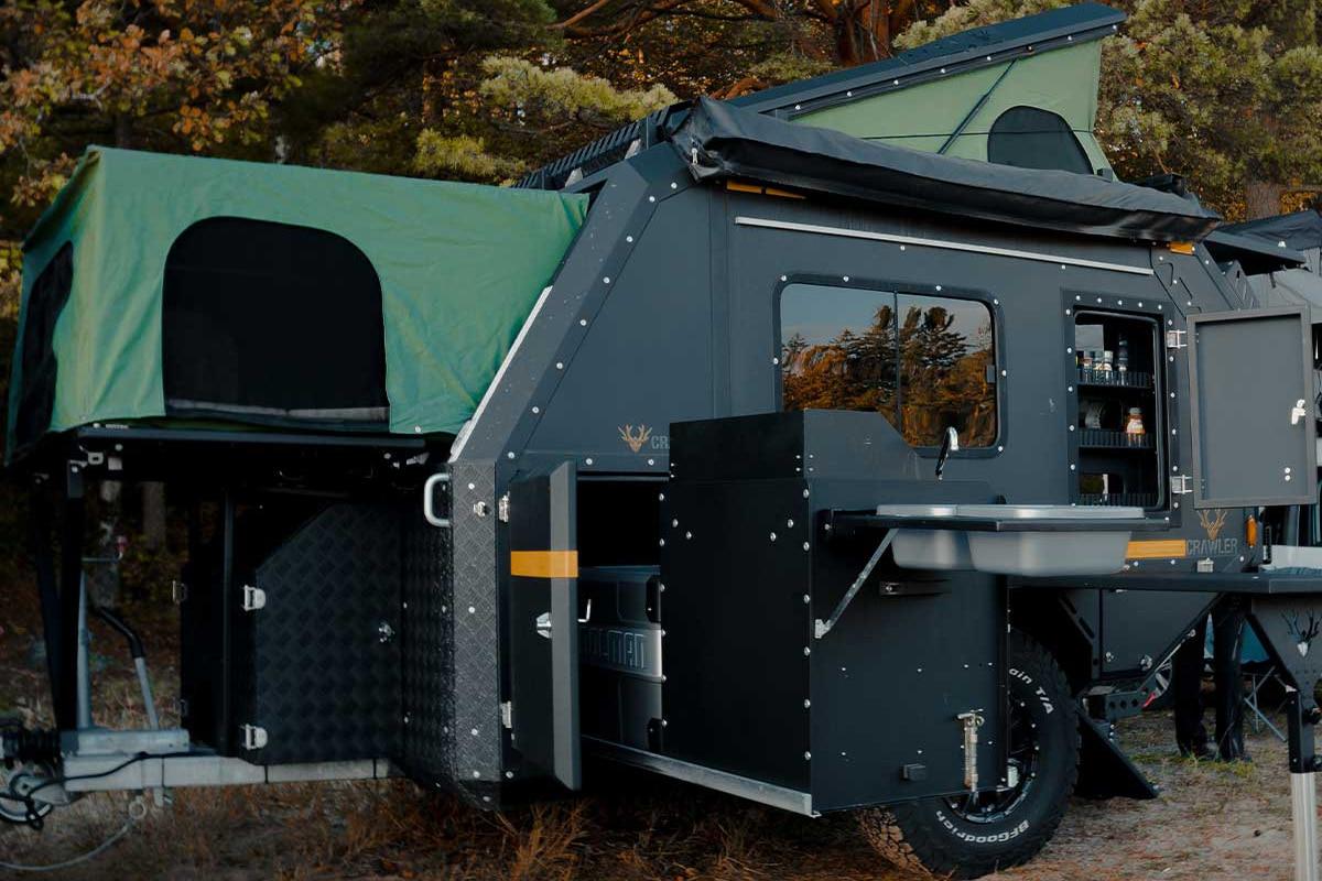 Minicaravan Crawler TRC 428 open