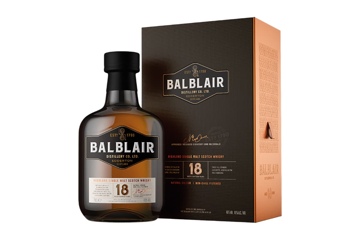 New Balblair Whiskys 18 year old