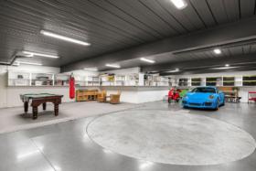 Basement garage of Shane Warne's mansion