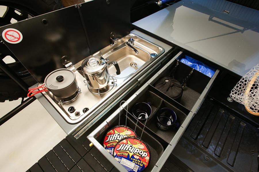 Toyota Overlanding Rig the TRD kitchen