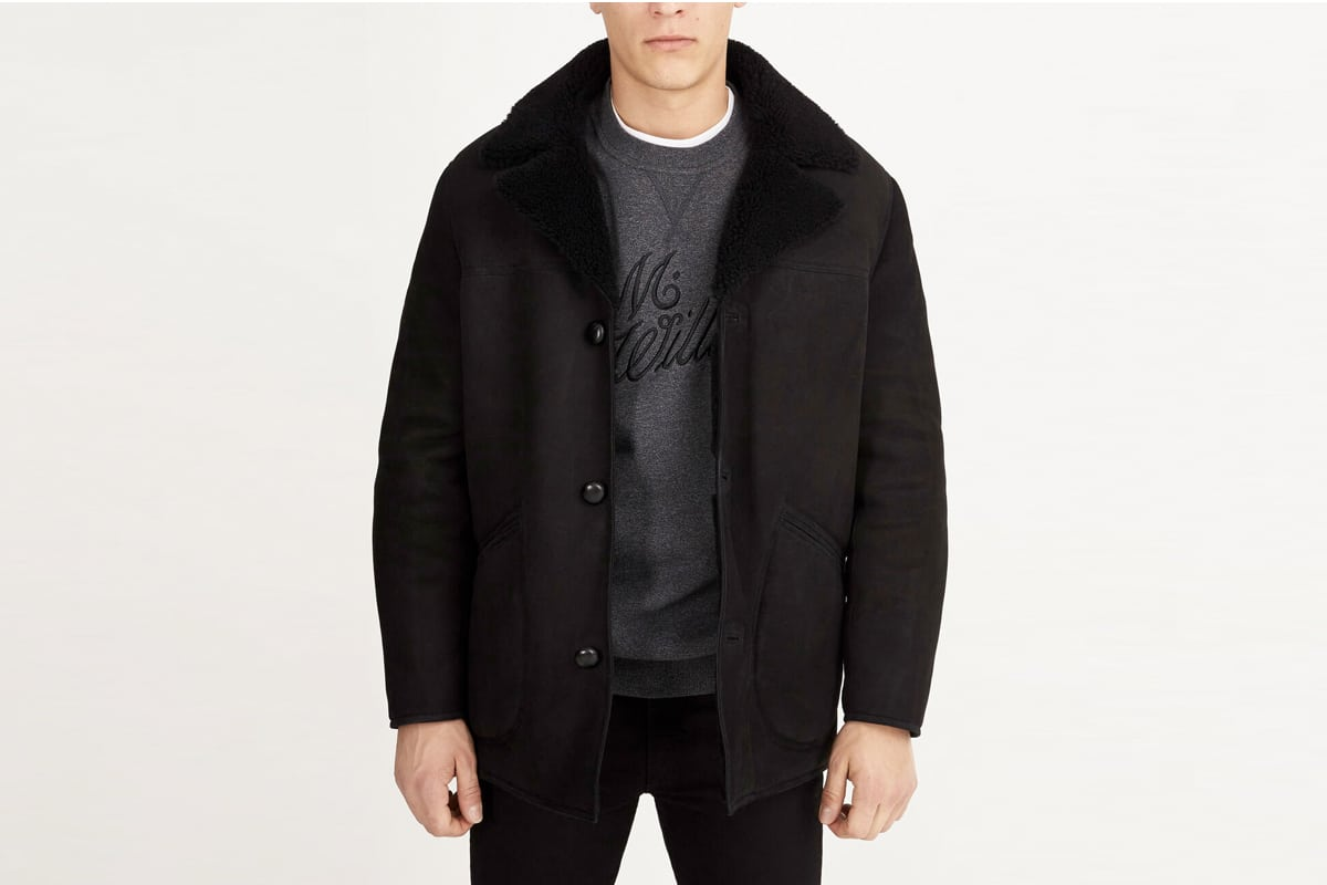 Rm williams shearling coat