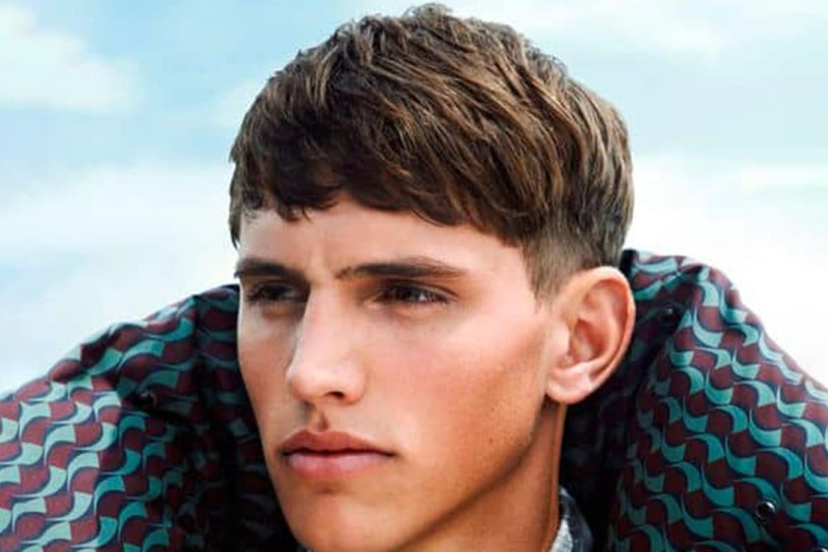 men's bowl cut with an undercut hairstyle
