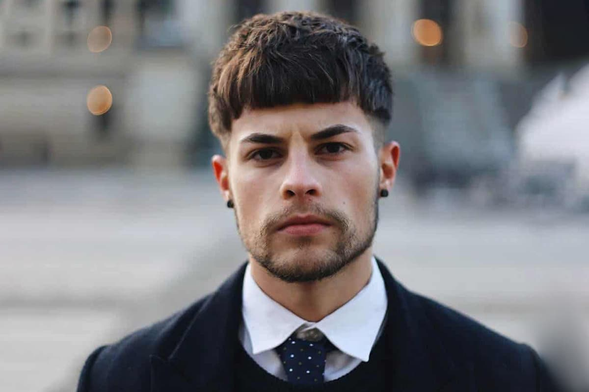 men's classic bowl cut hairstyle