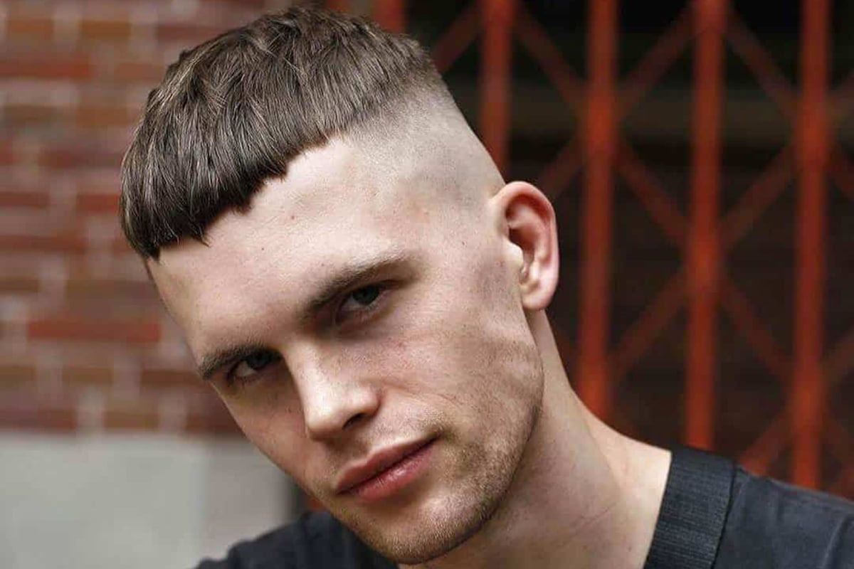 men's high and tight bowl cut hairstyle