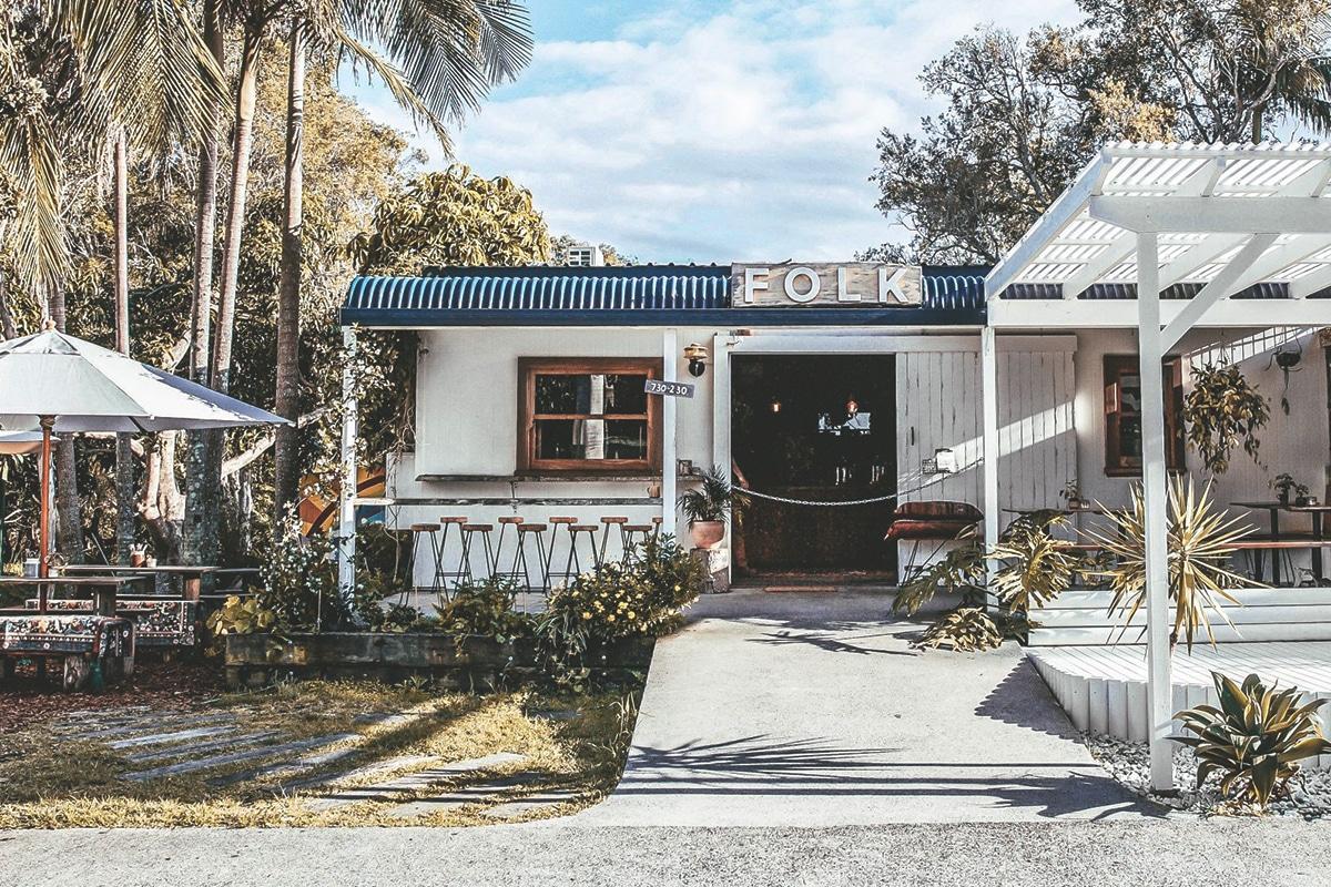 folk byron bay cafe exterior