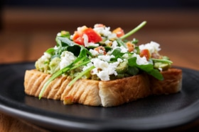 Avocado Toast with Cottage Cheese and tomato