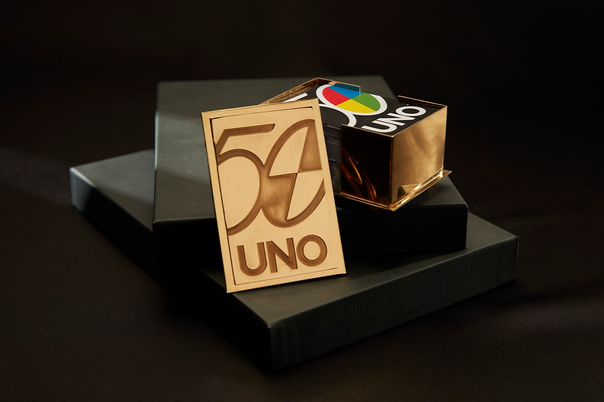22ct gold uno card holder
