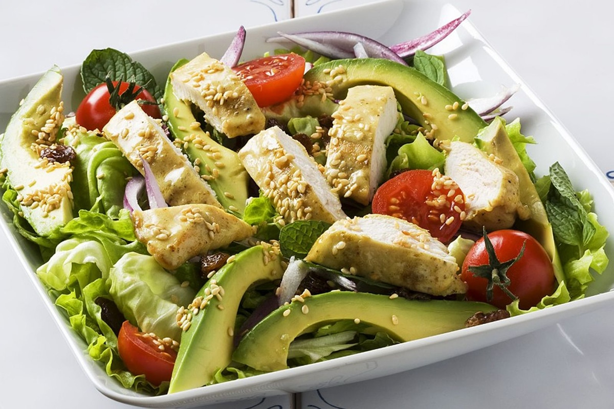 Best High Protein Snacks for On the Go Avocado and Chicken Salad