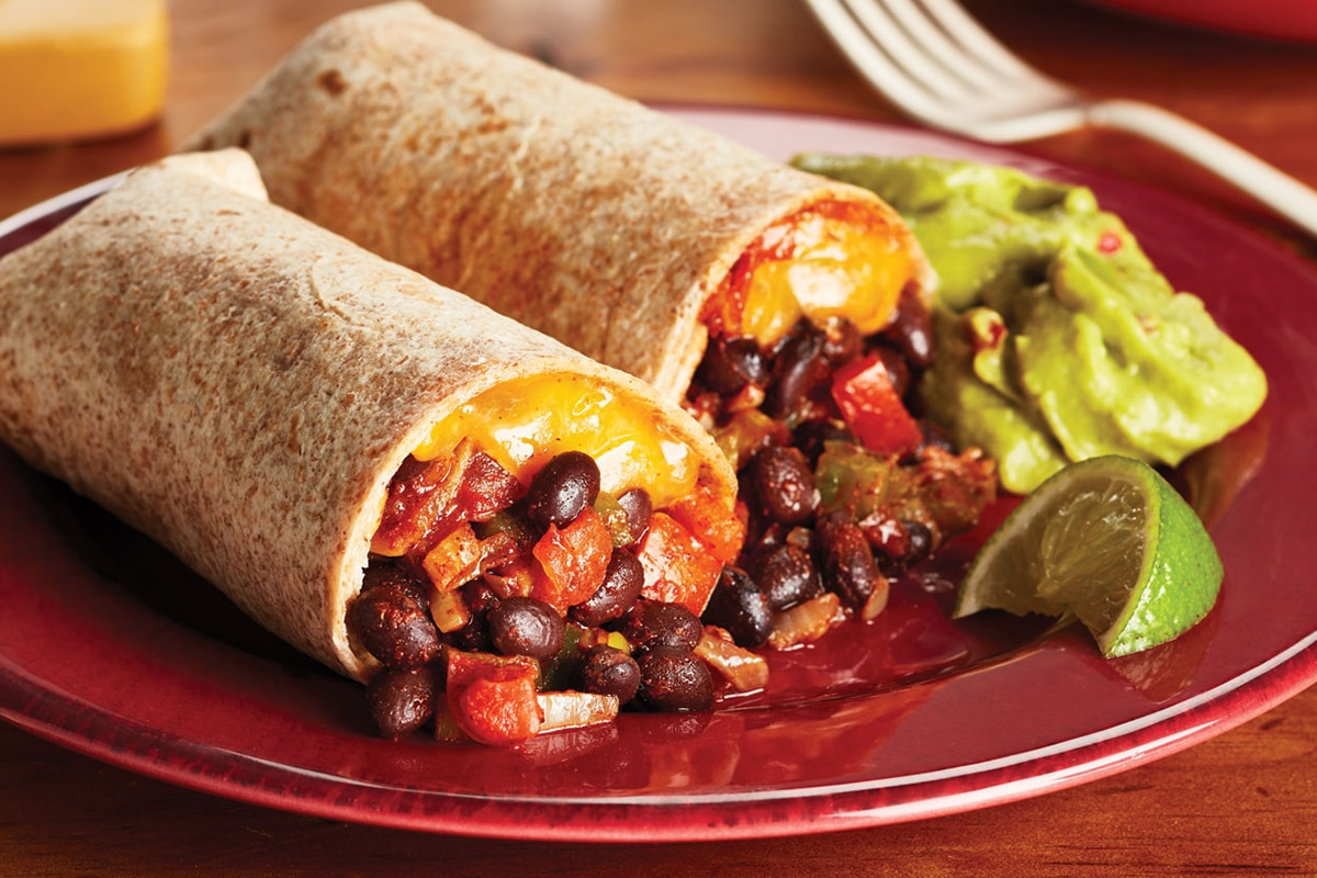 Best High Protein Snacks for On the Go Black Bean Wrap