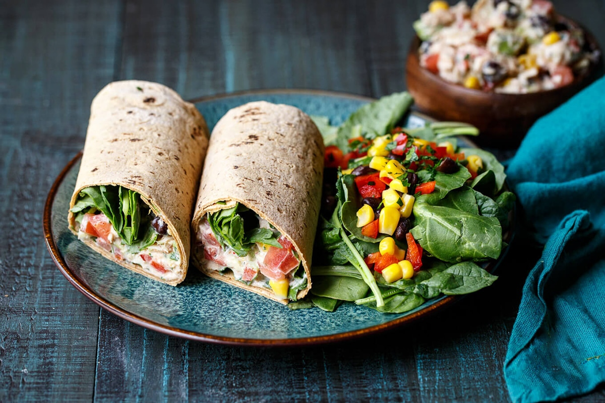 Best High Protein Snacks for On the Go Tuna Salad Wrap