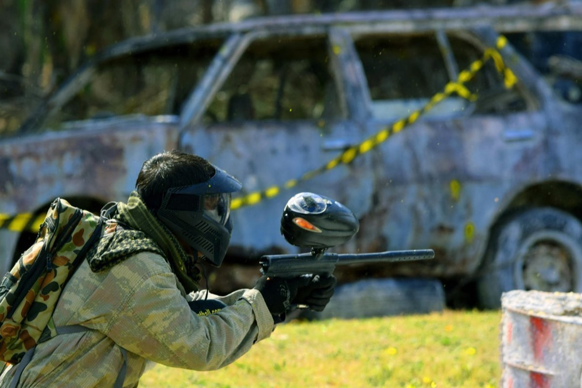 action paintball games player