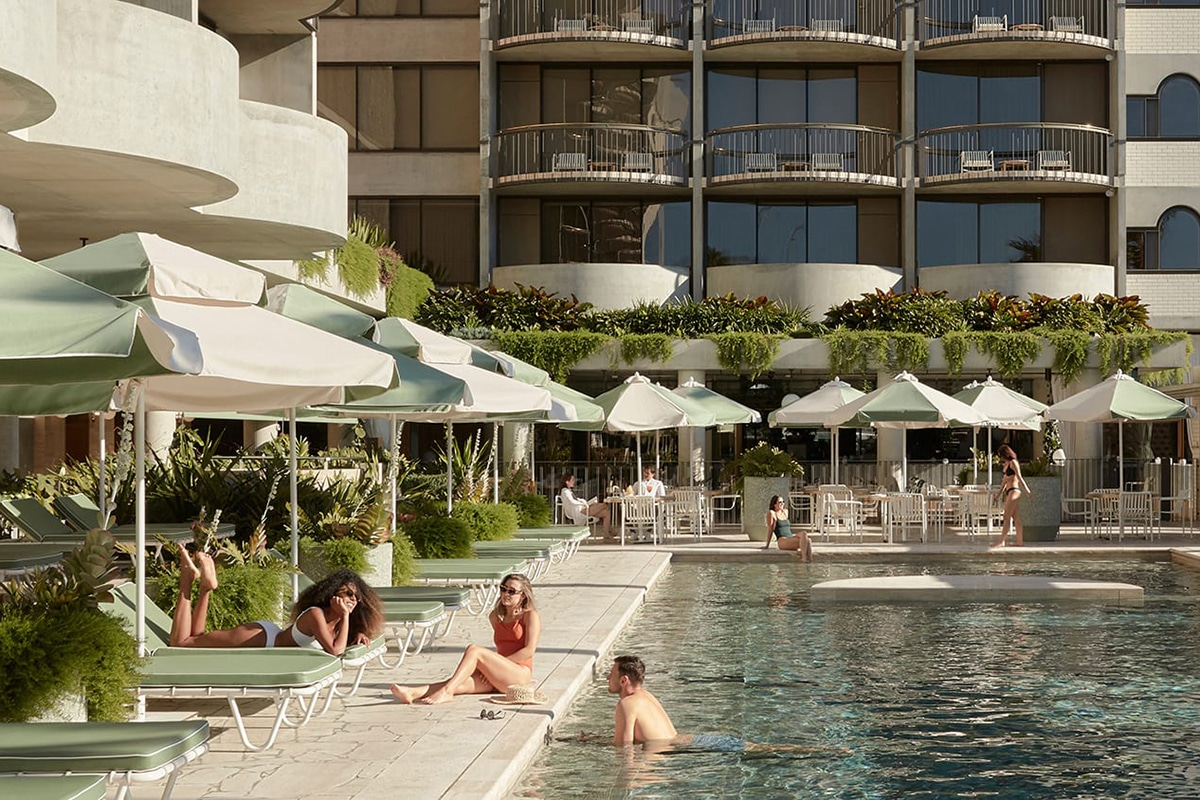 swimming pool at the calile fortitude valley hotel