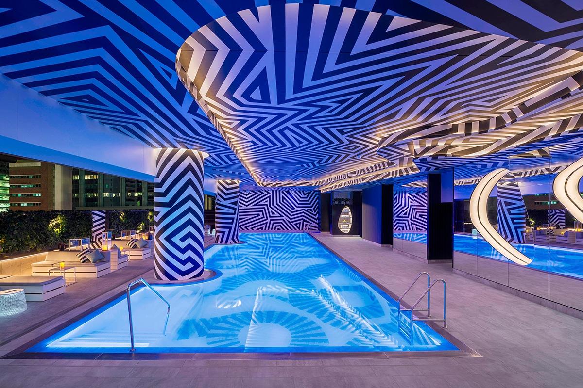 W Brisbane swimming pool interior