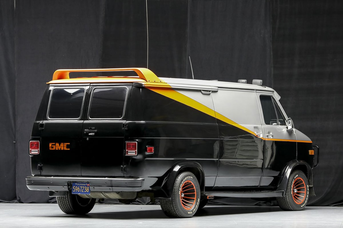 A Team Van up for auction side