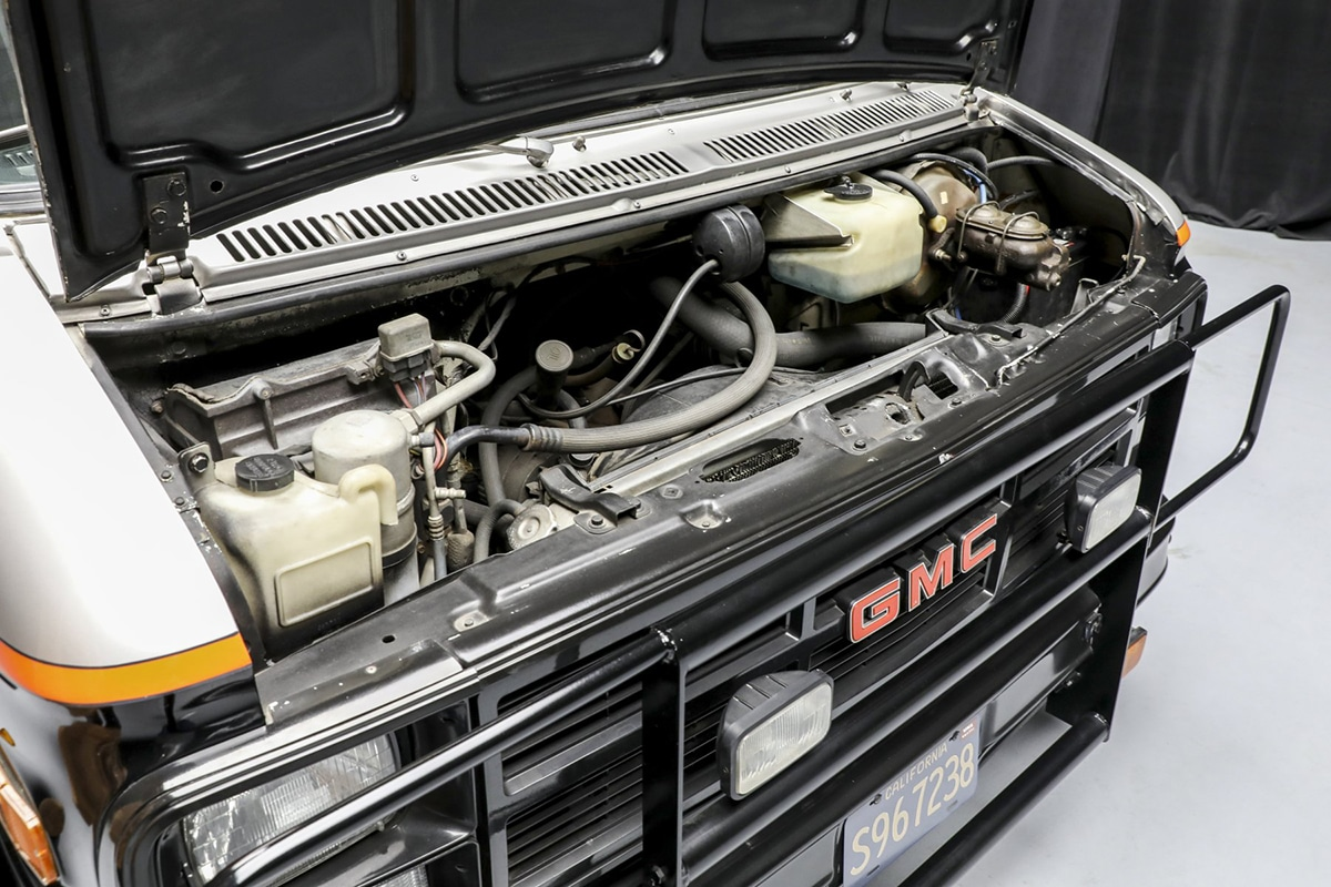 A Team Van up for auction engine