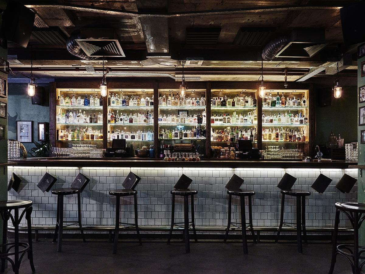 the barbershop cocktail bar sydney interior