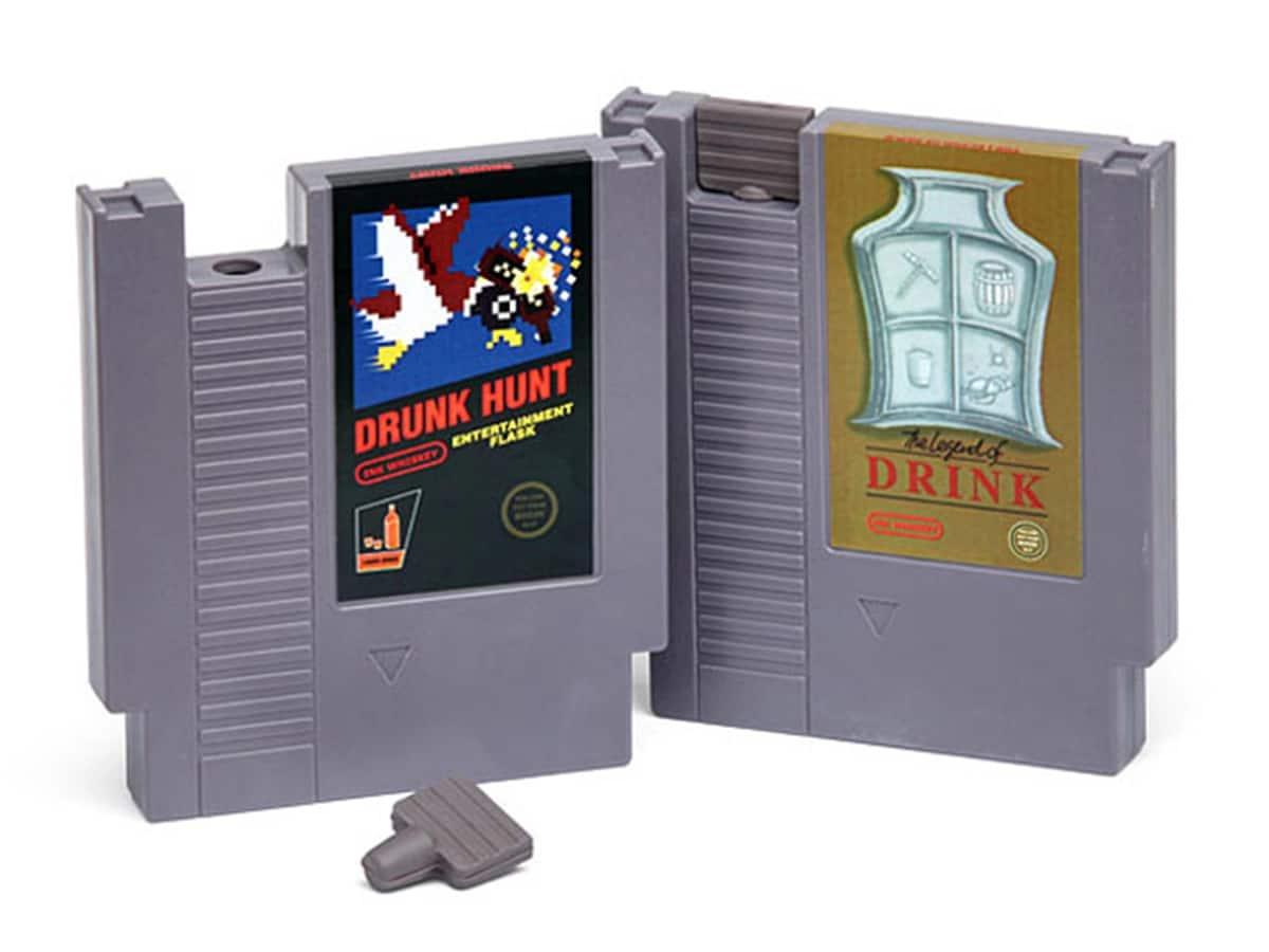 Best hip flasks and drink ideas drunk hunt video game cartridge flask