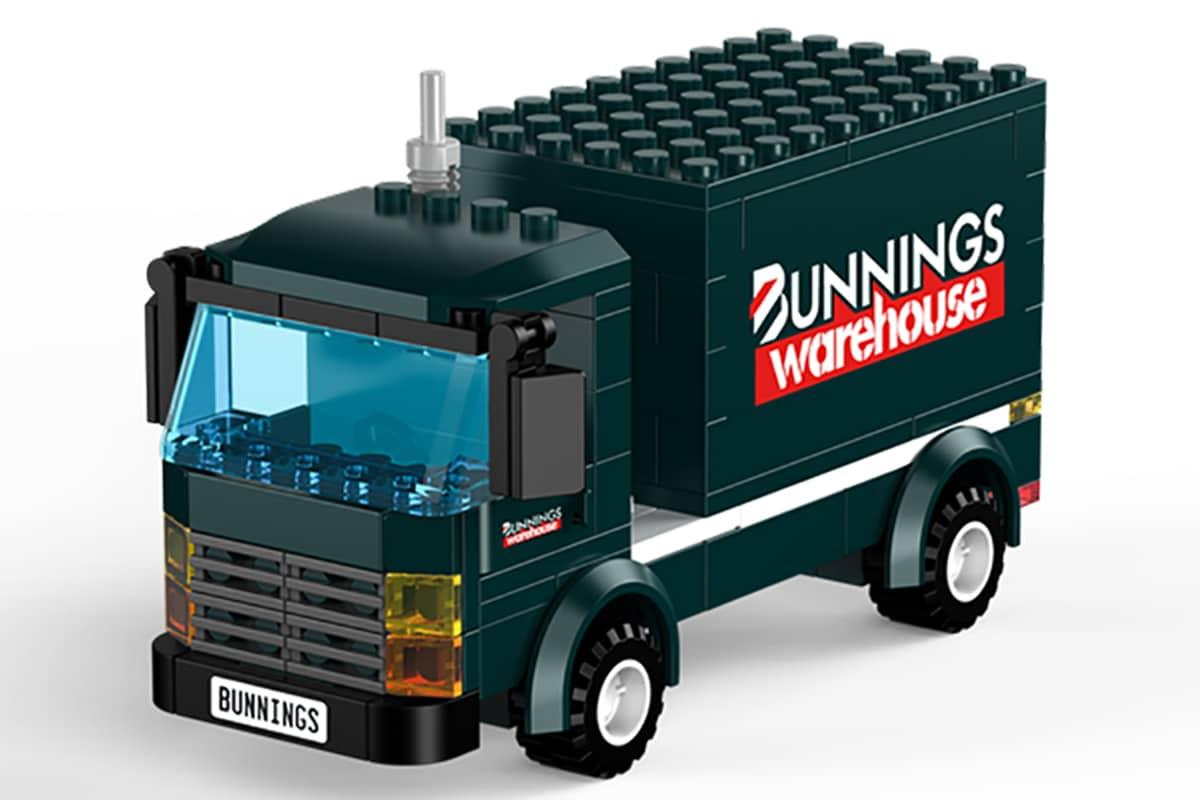 Bunnings LEGO Truck side