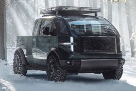 Canoo's Electric Pickup Truck Black