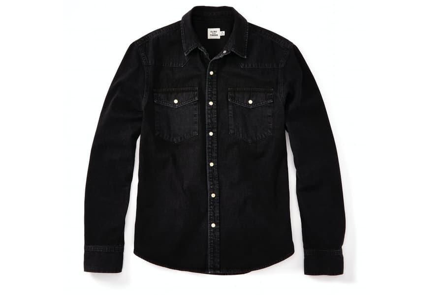 Flint and Tinder Bone Button Western Shirt