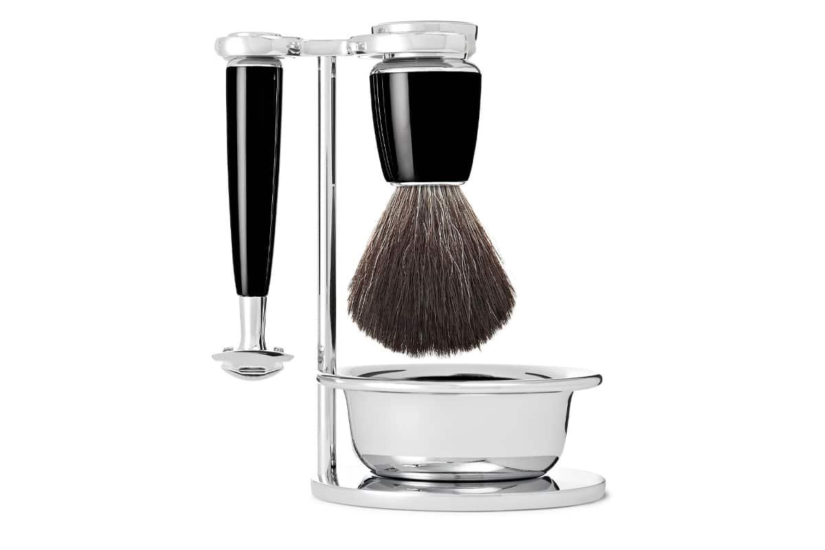 Muhle Rytmo Four-Piece Chrome And Resin Shaving Set