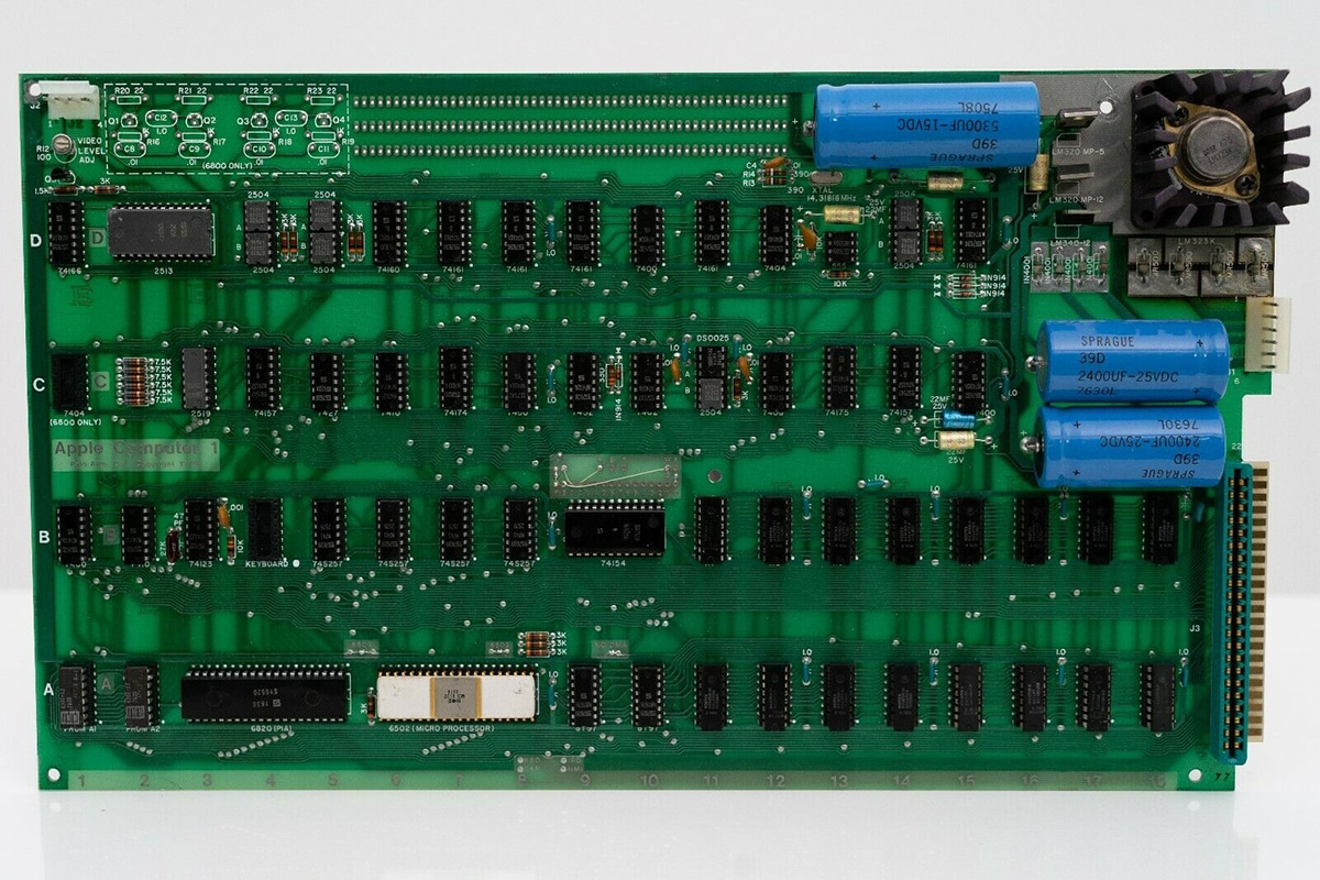 Original Apple Computer for $1.5 Million parts
