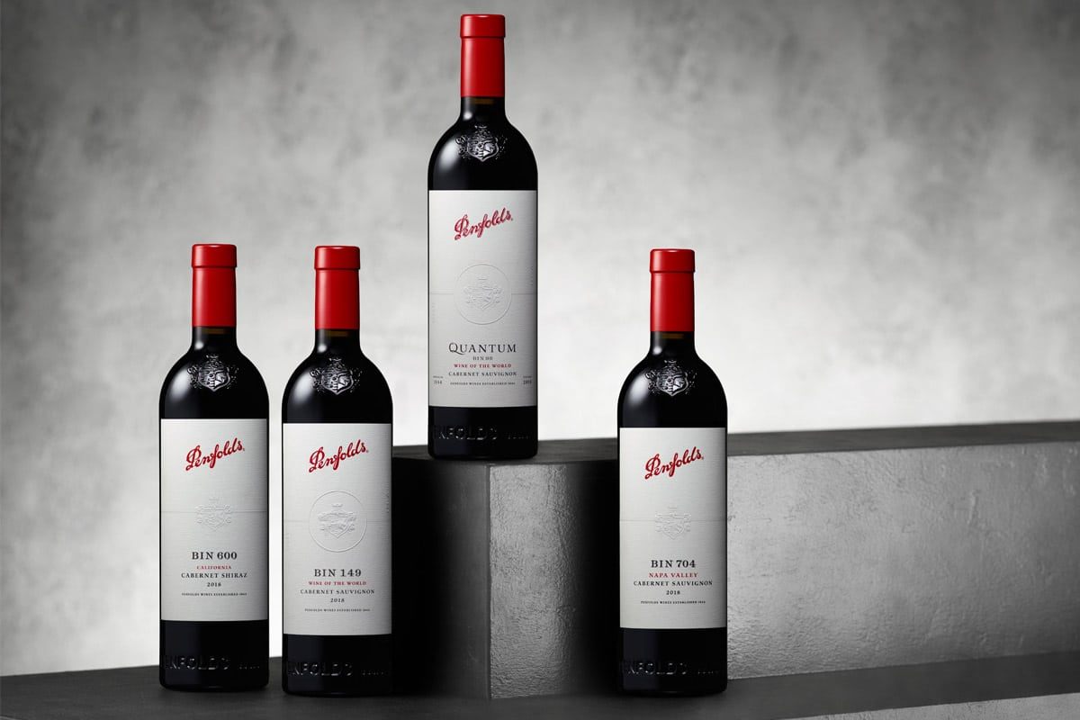 Four bottles of Penfolds California Collection wine