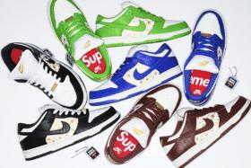 Supreme x Nike Dunk top down