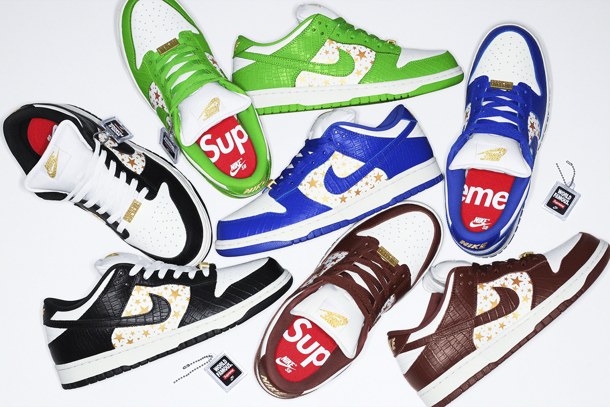 Supreme x Nike Dunk top down