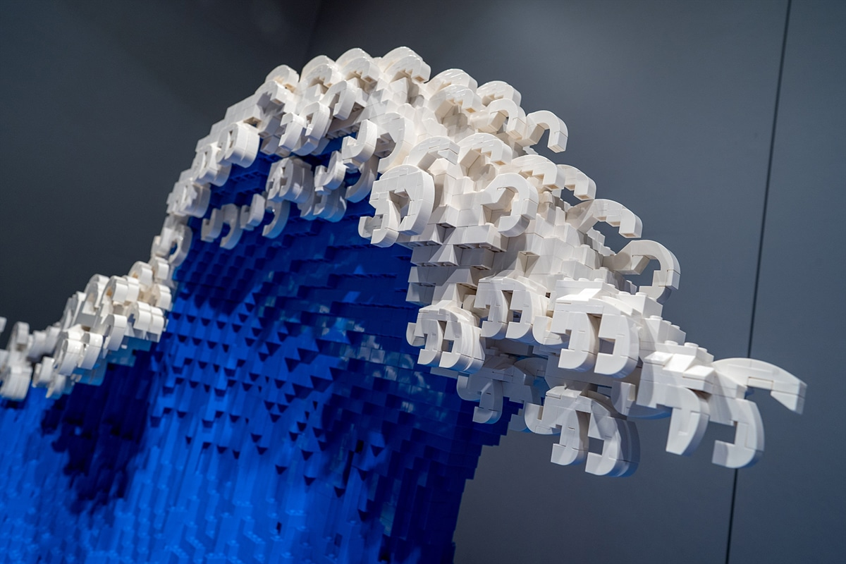 The Great Wave made from Lego