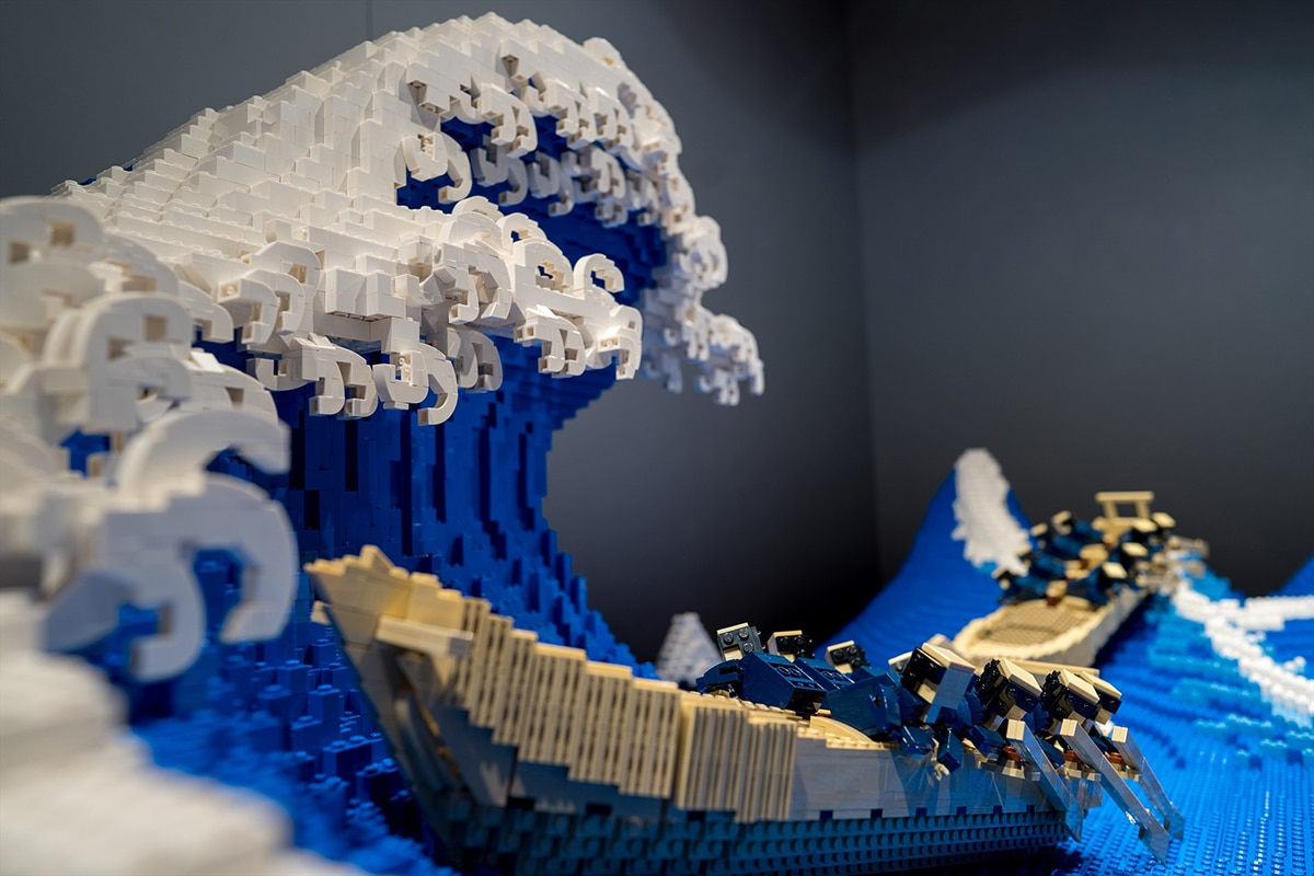 The Great Wave made from Lego boat