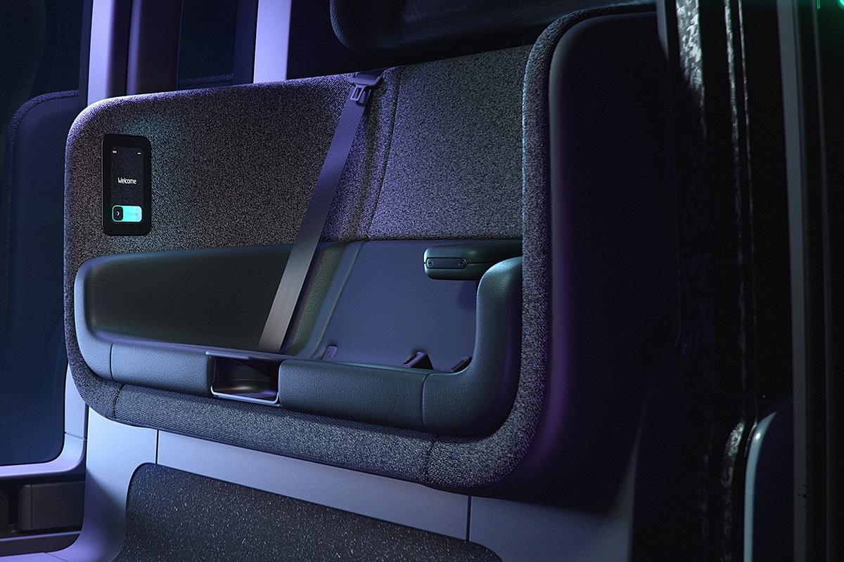 Zoox Amazon's Self Driving Taxi seats