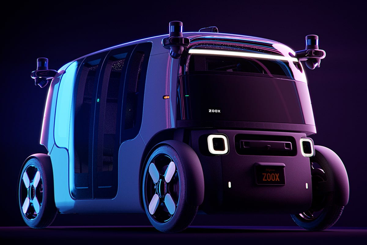 Zoox Amazon's Self Driving Taxi front side